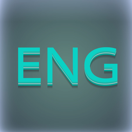 version: English icon symbol. 3D style. Trendy, modern design with space for your text illustration. Raster version