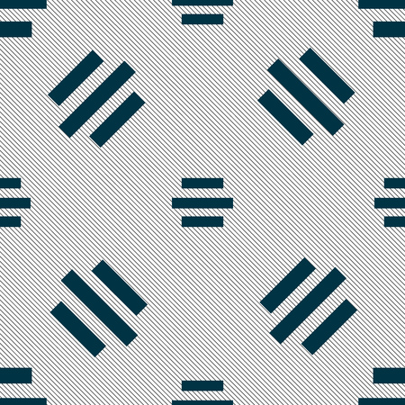 alignment: Center alignment icon sign. Seamless pattern with geometric texture. illustration