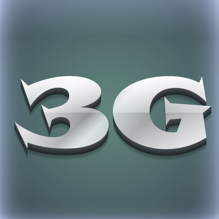 3g: 3G icon symbol. 3D style. Trendy, modern design with space for your text illustration. Raster version Stock Photo