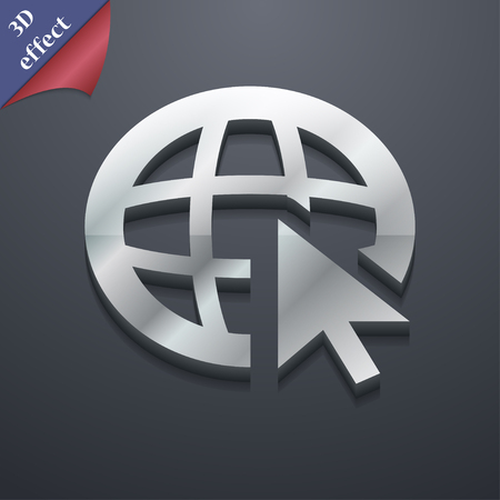 world wide: World wide web icon symbol. 3D style. Trendy, modern design with space for your text illustration. Rastrized copy