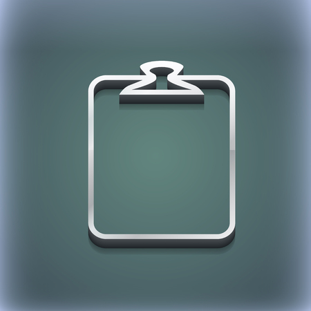 appendix: Paper clip icon symbol. 3D style. Trendy, modern design with space for your text illustration. Raster version