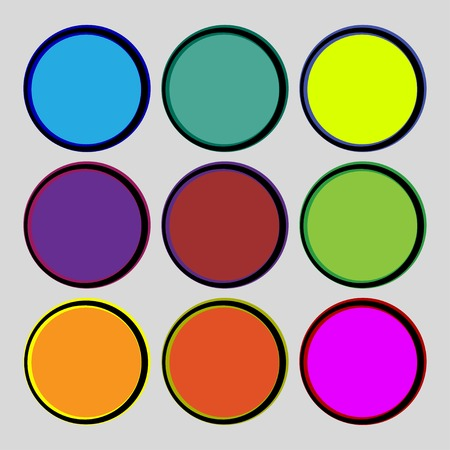 rollover: Set of blank colourful web buttons for website or app. illustration