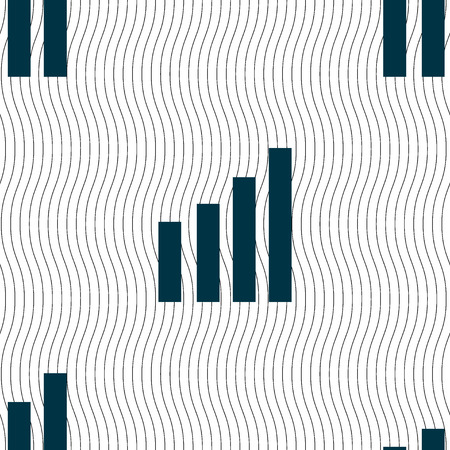 wireless signal: Mobile signal sign.  symbol. Wireless Network icon. Wifi zone. Seamless pattern with geometric texture. illustration Stock Photo