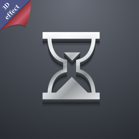 sand timer: Hourglass, Sand timer icon symbol. 3D style. Trendy, modern design with space for your text illustration. Rastrized copy