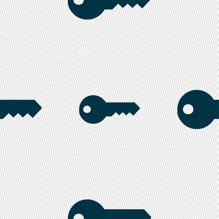 privileges: key icon sign. Seamless pattern with geometric texture. illustration Stock Photo