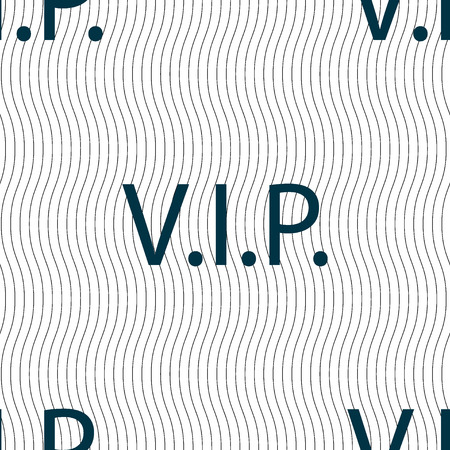 very important person sign: Vip sign icon. Membership symbol. Very important person. Seamless pattern with geometric texture. illustration Stock Photo