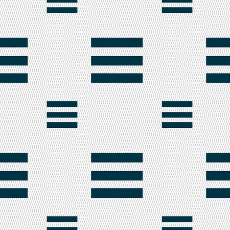 width: Align text to the width icon sign. Seamless pattern with geometric texture. illustration