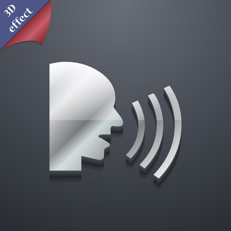 loudy: Talking icon symbol. 3D style. Trendy, modern design with space for your text illustration. Rastrized copy