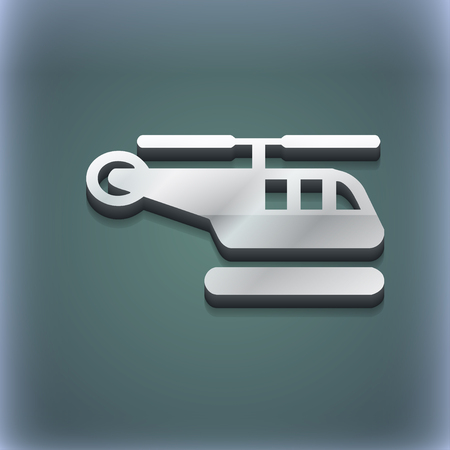 airbus: helicopter icon symbol. 3D style. Trendy, modern design with space for your text illustration. Raster version Stock Photo