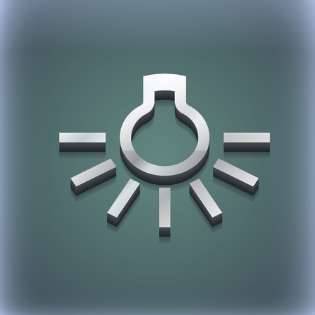 light bulb icon symbol. 3D style. Trendy, modern design with space for your text illustration. Raster version