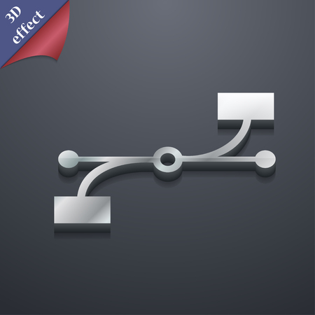 bezier: Bezier Curve icon symbol. 3D style. Trendy, modern design with space for your text illustration. Rastrized copy Stock Photo