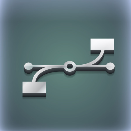 bezier: Bezier Curve icon symbol. 3D style. Trendy, modern design with space for your text illustration. Raster version Stock Photo