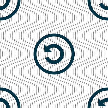 groupware: Upgrade, arrow, update icon sign. Seamless pattern with geometric texture. illustration
