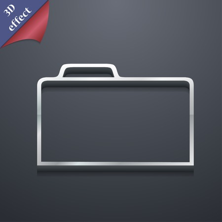 map case: Document folder icon symbol. 3D style. Trendy, modern design with space for your text illustration. Rastrized copy