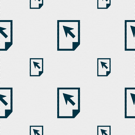 docs: Text file sign icon. File document symbol. Seamless pattern with geometric texture. illustration Stock Photo