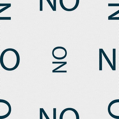 norwegian: Norwegian language sign icon. NO Norway translation symbol. Seamless abstract background with geometric shapes. illustration Stock Photo