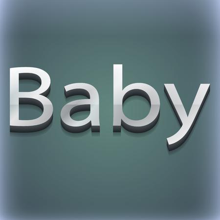 bebe a bordo: Beb� a bordo icono de s�mbolo. Plantillas en 3D. dise�o de moda, moderno, con espacio para el texto Ilustraci�n. versi�n de la trama