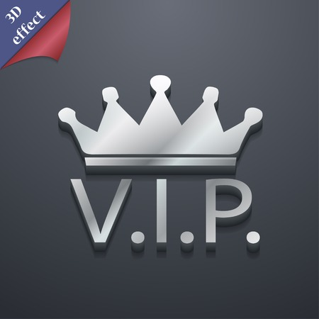celebrities: Vip icon symbol. 3D style. Trendy, modern design with space for your text illustration. Rastrized copy