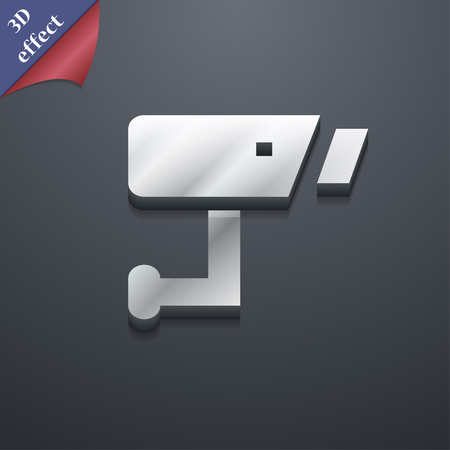 close circuit camera: Surveillance Camera icon symbol. 3D style. Trendy, modern design with space for your text illustration. Rastrized copy Stock Photo
