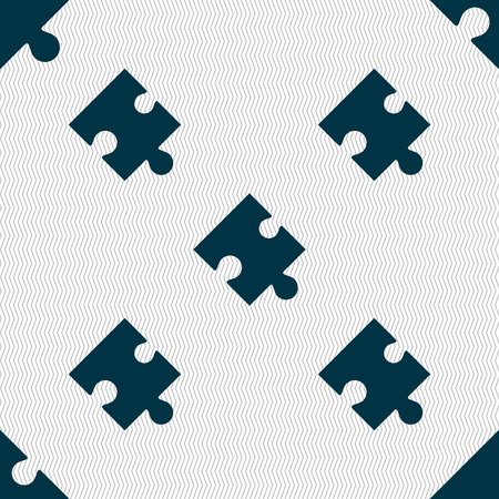 conundrum: Puzzle piece icon sign. Seamless abstract background with geometric shapes. illustration