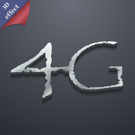 4g: 4G icon symbol. 3D style. Trendy, modern design with space for your text illustration. Rastrized copy Stock Photo