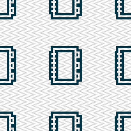 ereader: Book icon sign. Seamless pattern with geometric texture. illustration Stock Photo