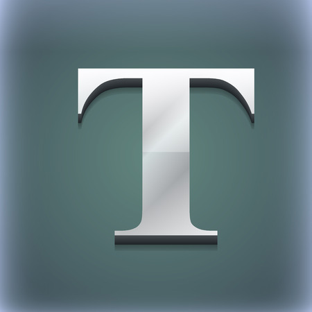 t document: Text edit icon symbol. 3D style. Trendy, modern design with space for your text illustration. Raster version