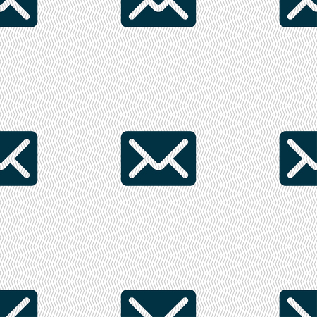 avia: Mail, envelope, letter icon sign. Seamless pattern with geometric texture. illustration