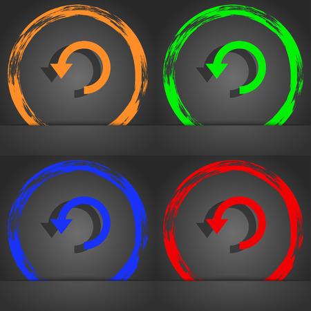 groupware: Upgrade, arrow, update icon symbol. Fashionable modern style. In the orange, green, blue, green design. illustration Stock Photo