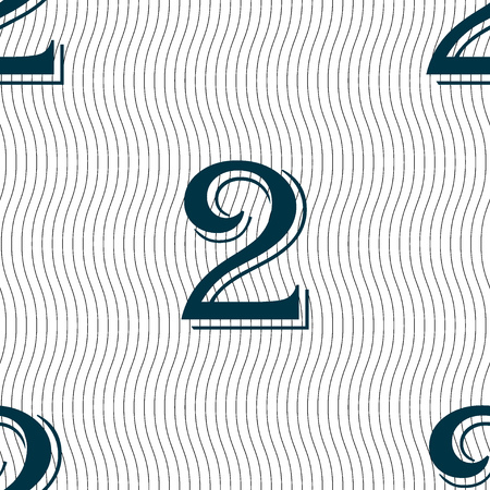 second place: Second place award sign. Winner symbol. Step two.. Seamless pattern with geometric texture. illustration