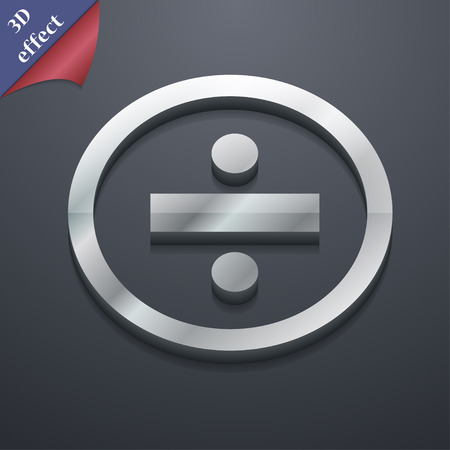 dividing: dividing icon symbol. 3D style. Trendy, modern design with space for your text illustration. Rastrized copy
