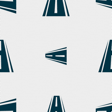 bitumen: Road icon sign. Seamless abstract background with geometric shapes. illustration