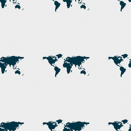 geography: Globe sign icon. World map geography symbol. Seamless abstract background with geometric shapes. illustration