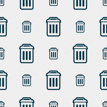 local supply: the trash icon sign. Seamless pattern with geometric texture. illustration