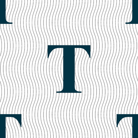 t document: Text edit icon sign. Seamless pattern with geometric texture. illustration