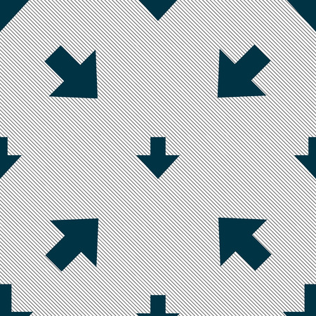 downloading: Download sign. Downloading flat icon. Load label. Seamless pattern with geometric texture. illustration Stock Photo