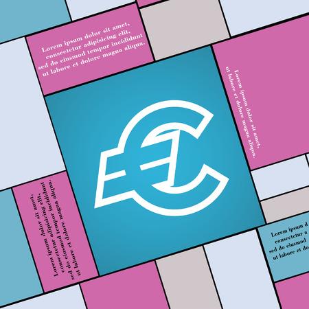 eur: Euro EUR icon sign. Modern flat style for your design. illustration Stock Photo