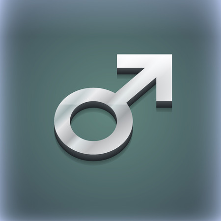 raster sex: Male sex icon symbol. 3D style. Trendy, modern design with space for your text illustration. Raster version