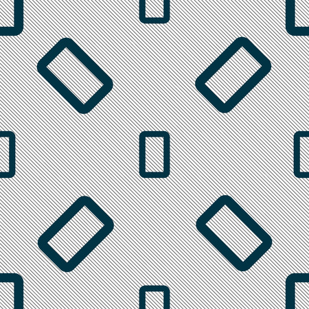 zero: number zero icon sign. Seamless pattern with geometric texture. illustration