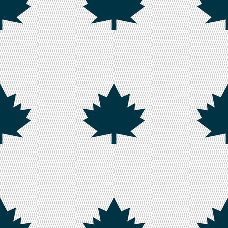 canadian state flag: Maple leaf icon. Seamless abstract background with geometric shapes. illustration