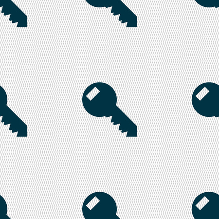 tool unlock: Key sign icon. Unlock tool symbol.. Seamless abstract background with geometric shapes. illustration