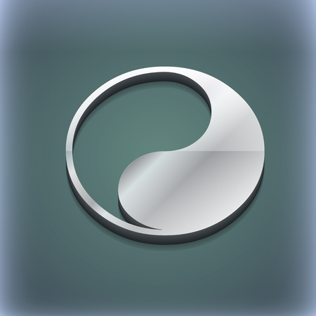 yang style: Yin Yang icon symbol. 3D style. Trendy, modern design with space for your text illustration. Raster version