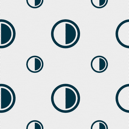 contrast: contrast icon sign. Seamless pattern with geometric texture. illustration