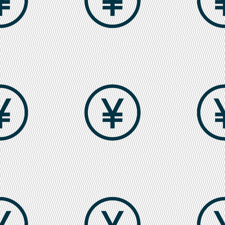 incomes: Japanese Yuan icon sign. Seamless abstract background with geometric shapes. illustration