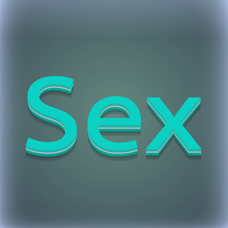 raster sex: sex icon symbol. 3D style. Trendy, modern design with space for your text illustration. Raster version