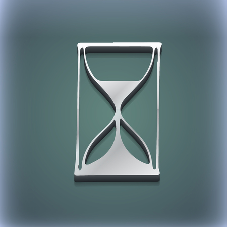 sandglass: Hourglass icon symbol. 3D style. Trendy, modern design with space for your text illustration. Raster version