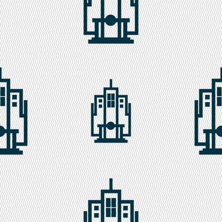 Signo De Icono De Rascacielos. Un Montón De Coloridos Símbolos Para ...
