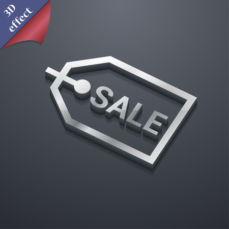 liquids: Sale icon symbol. 3D style. Trendy, modern design with space for your text illustration. Rastrized copy