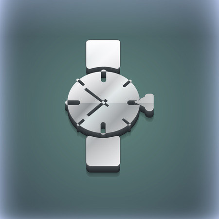 swiss insignia: Wrist Watch icon symbol. 3D style. Trendy, modern design with space for your text illustration. Raster version