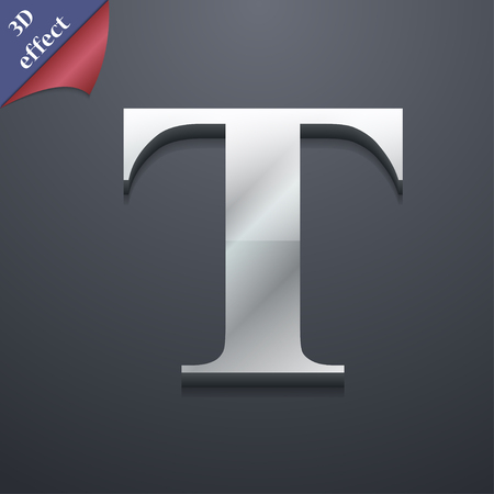 t document: Text edit icon symbol. 3D style. Trendy, modern design with space for your text illustration. Rastrized copy